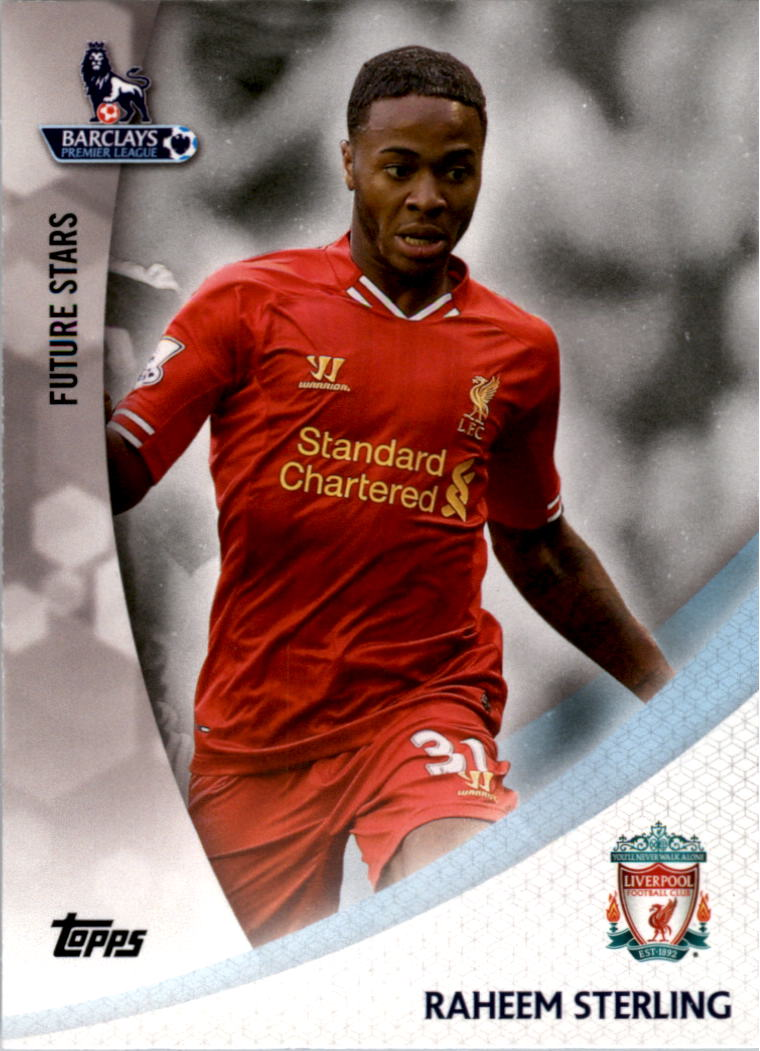 2013-14 Topps English Premier League Gold Future Stars #FSRS Raheem Sterling