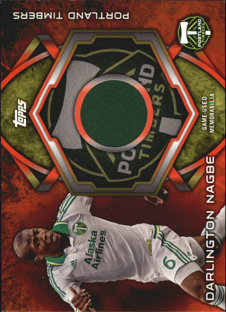 2014 Topps MLS Relics Red #KITDN Darlington Nagbe