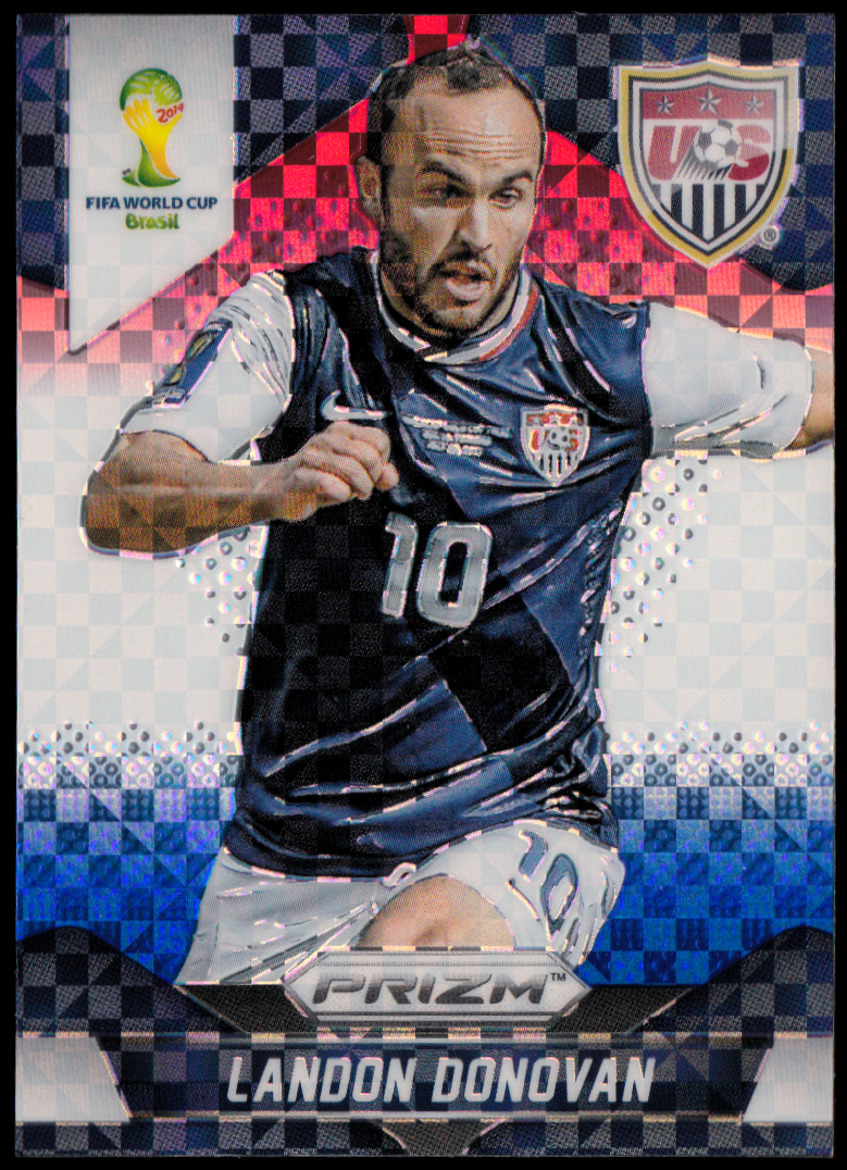 2014 Panini Prizm World Cup Prizms Red White and Blue #70 Landon Donovan