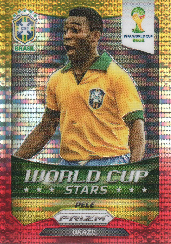 2014 Panini Prizm World Cup World Cup Stars Prizms Yellow Red Pulsar #41 Pele