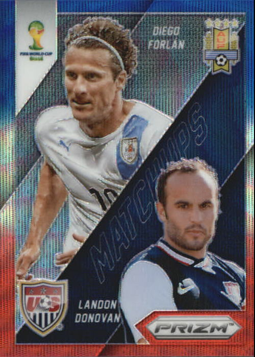 2014 Panini Prizm World Cup World Cup Matchups Prizms Blue and Red Wave #26 Diego Forlan/Landon Donovan