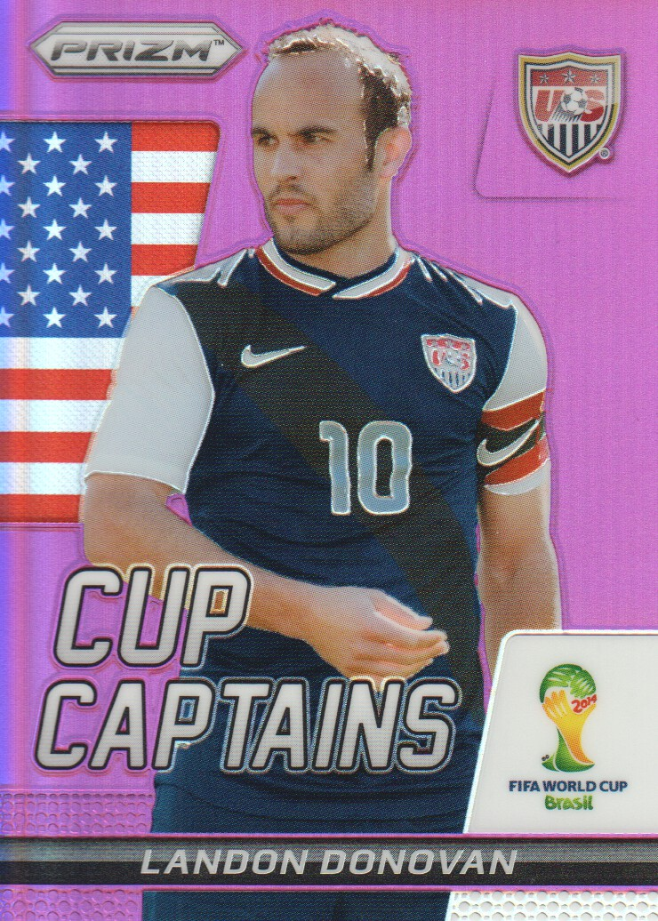 2014 Panini Prizm World Cup Cup Captains Prizms Purple #18 Landon Donovan