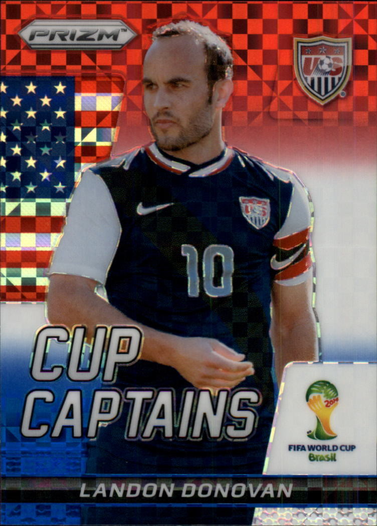2014 Panini Prizm World Cup Cup Captains Prizms Red White and Blue #18 Landon Donovan