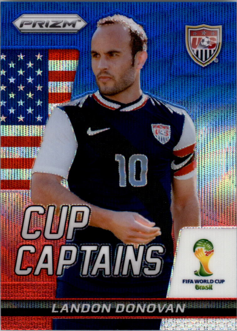 2014 Panini Prizm World Cup Cup Captains Prizms Blue and Red Wave #18 Landon Donovan