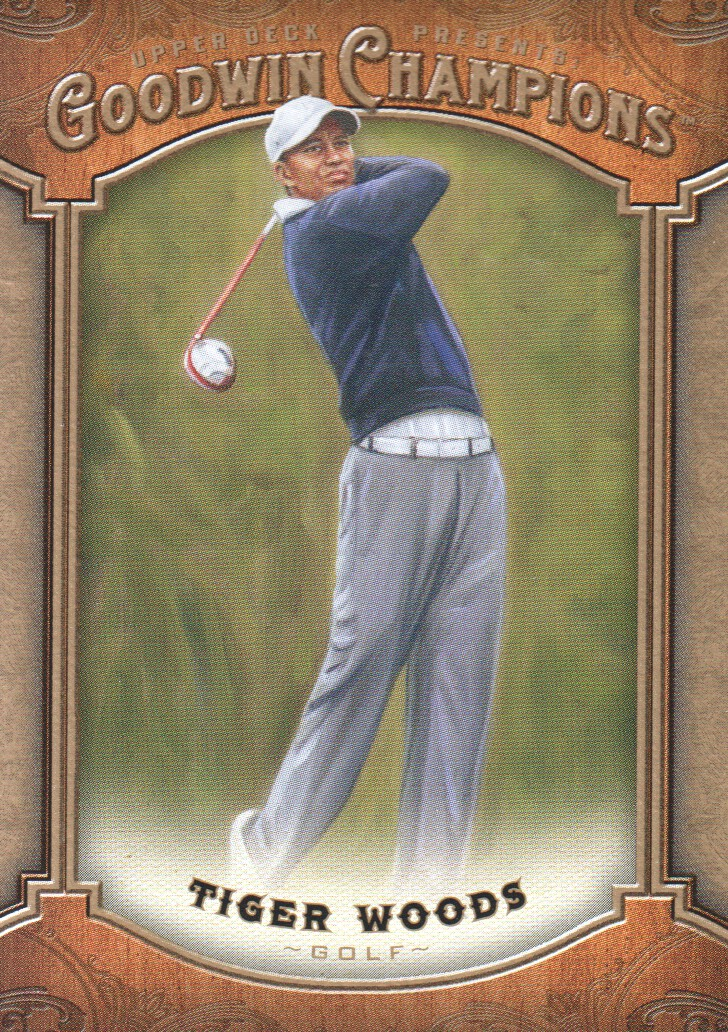 2014 Upper Deck Goodwin Champions #100 Tiger Woods