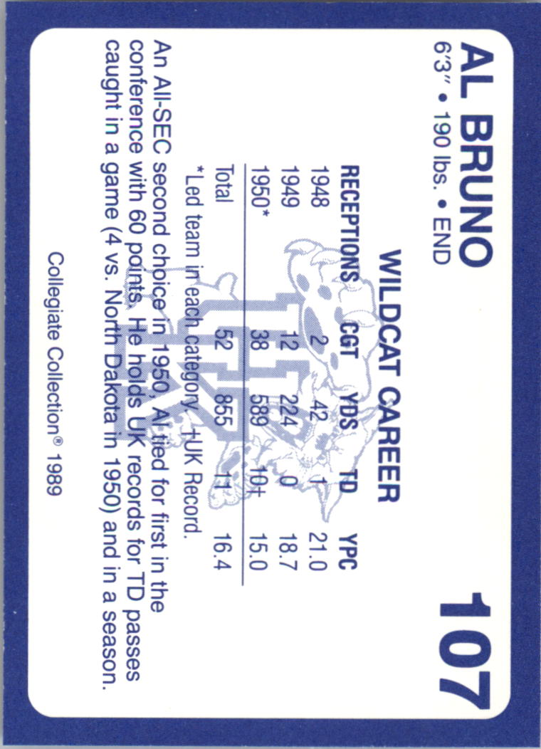 1989-90 Kentucky Collegiate Collection #107 Al Bruno