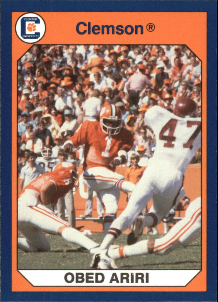 1990-91 Clemson Collegiate Collection #48 Obed Ariri F