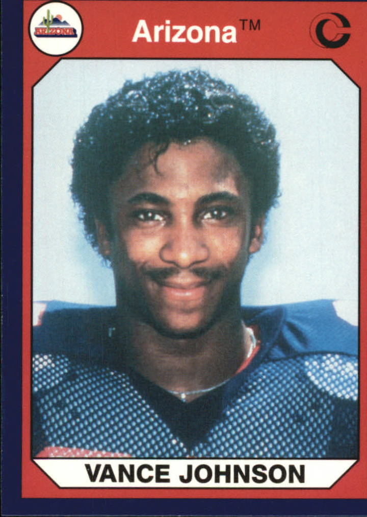 1990-91 Arizona Collegiate Collection #96 Vance Johnson RB F