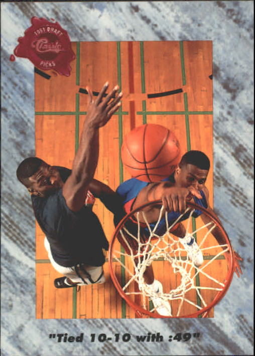 1991 Classic Four Sport #202 Score Tied with :49 Left