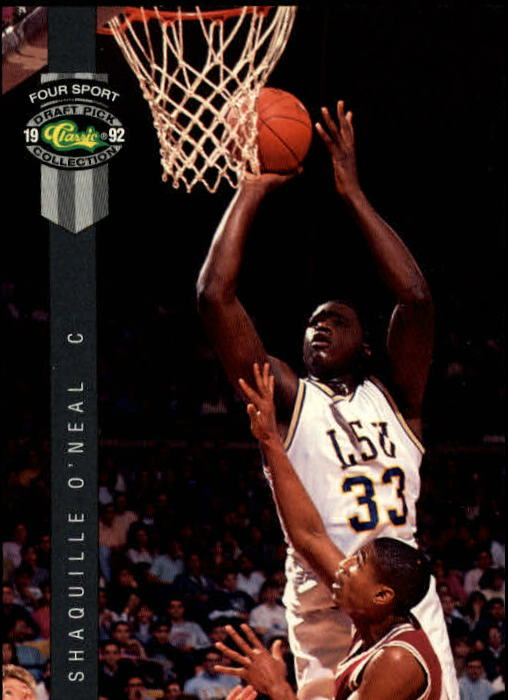 1992 Classic Four Sport #1 Shaquille O'Neal