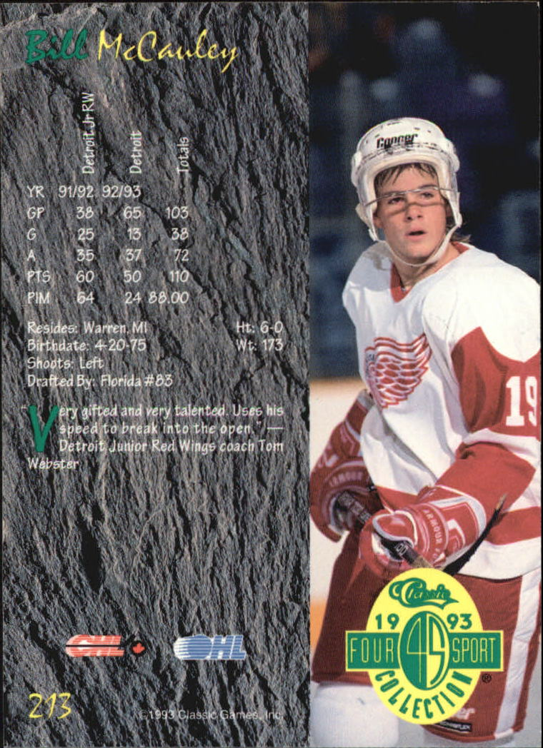 1993-Classic-Four-Sport-Hockey-Card-Pick