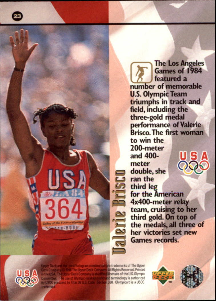 1996 Upper Deck U.S. Olympic #23 Valerie Brisco