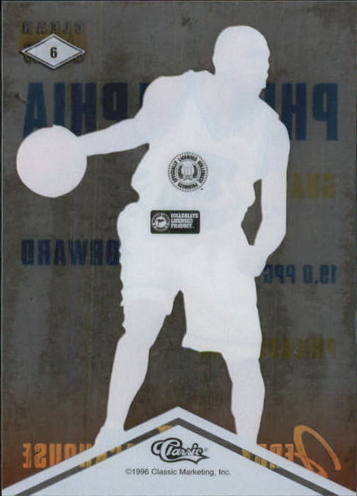 1996 Clear Assets #6 Jerry Stackhouse back image