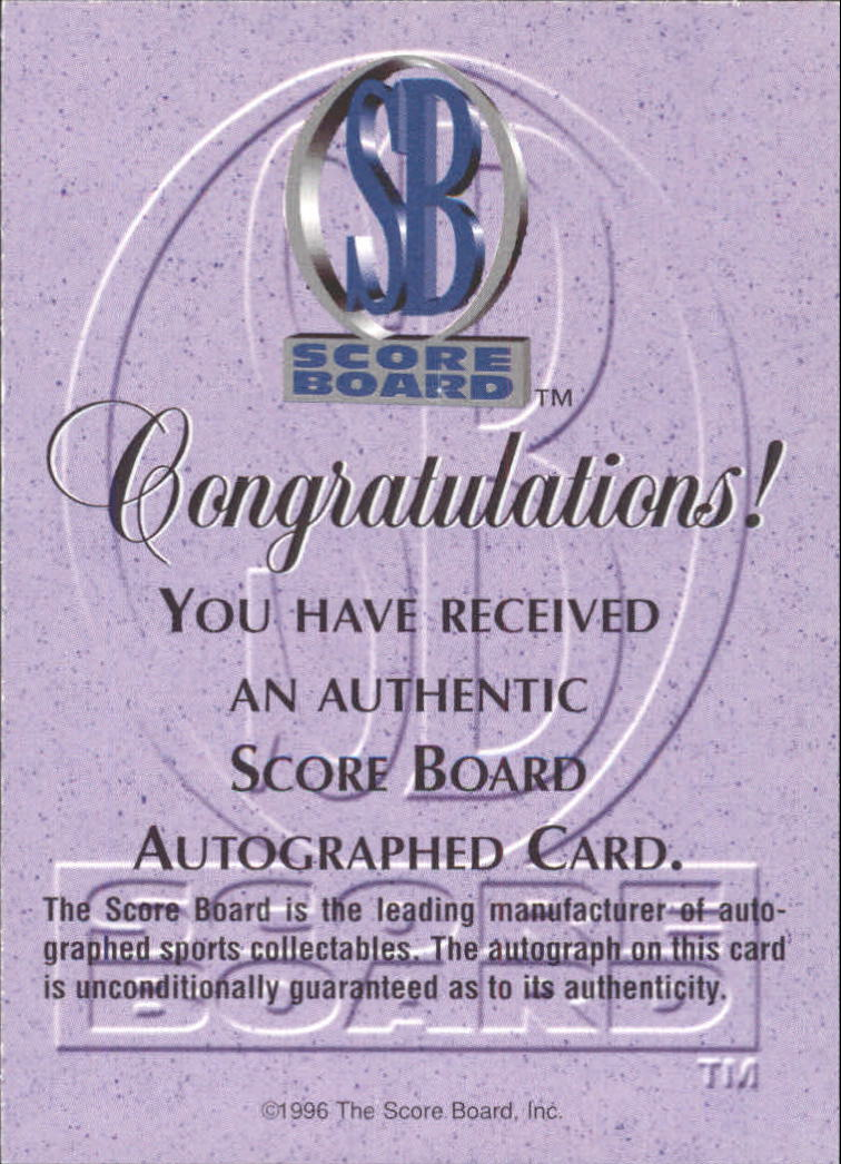 1996-97 Score Board Autographed Collection Autographs #10 Adam Colagiacomo
