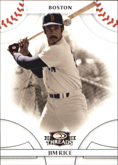 2008 Donruss Threads #11 Jim Rice