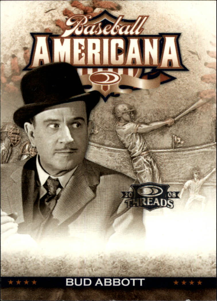2008 Donruss Threads Baseball Americana #1 Bud Abbott