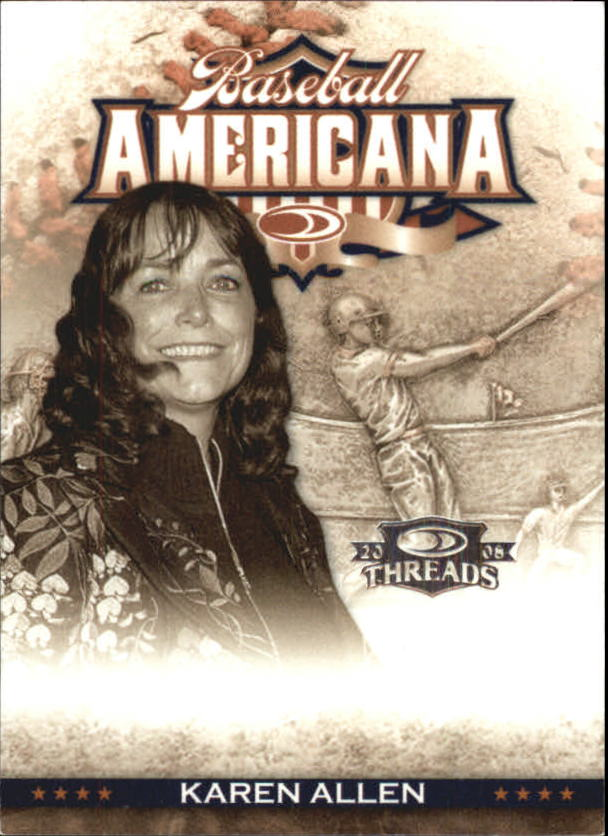2008 Donruss Threads Baseball Americana #34 Karen Allen