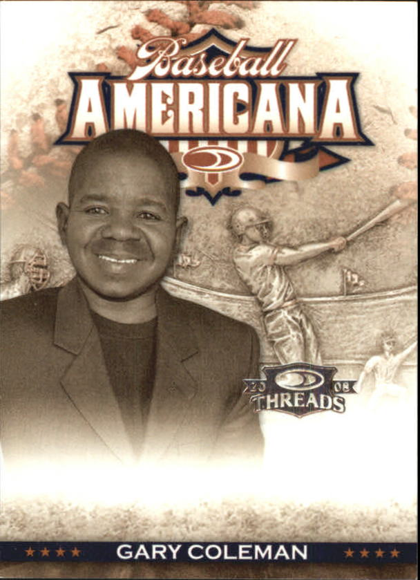 2008 Donruss Threads Baseball Americana #37 Gary Coleman
