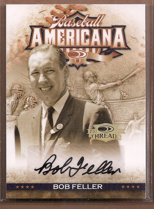 2008 Donruss Threads Baseball Americana Signatures #20 Bob Feller/100