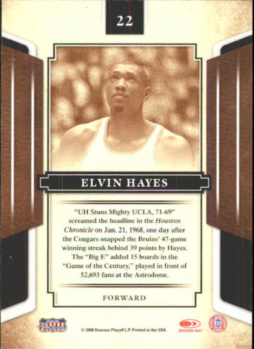2008 Donruss Sports Legends #22 Elvin Hayes back image