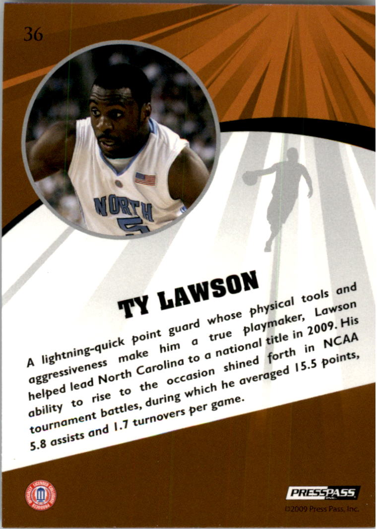 2009 Press Pass Fusion #36 Ty Lawson back image