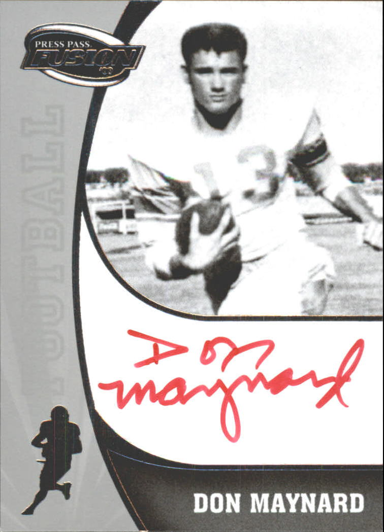 2009 Press Pass Fusion Autographs Silver #SSDM Don Maynard