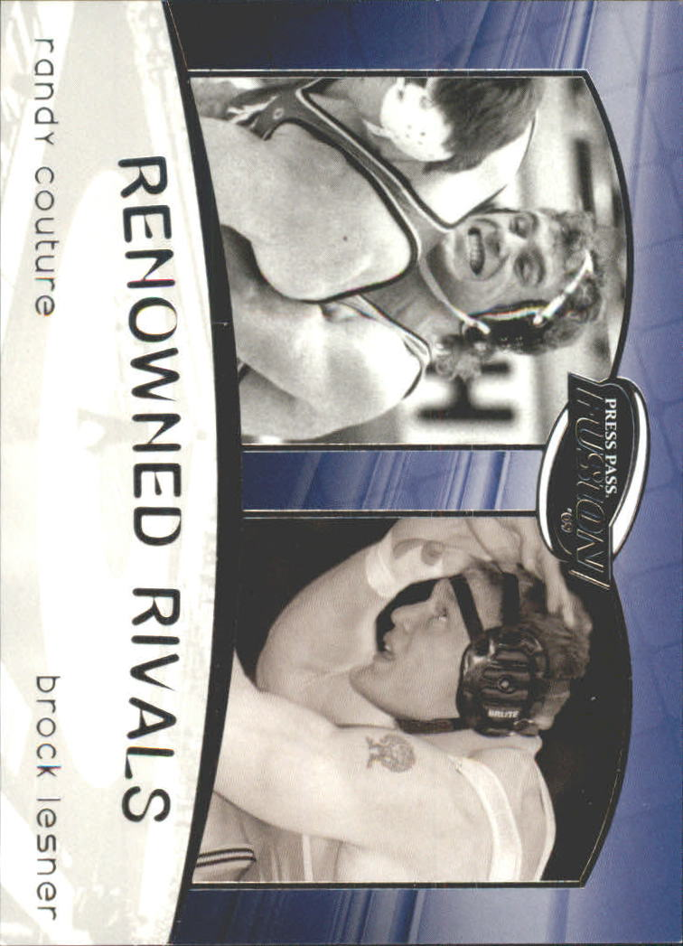 2009 Press Pass Fusion Renowned Rivals #RR10 Randy Couture/Brock Lesnar