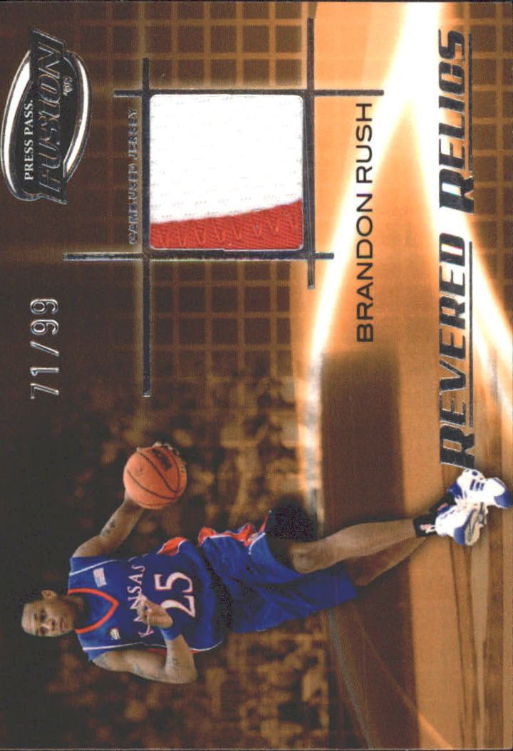 2009 Press Pass Fusion Revered Relics Silver #RRBR Brandon  Rush/99