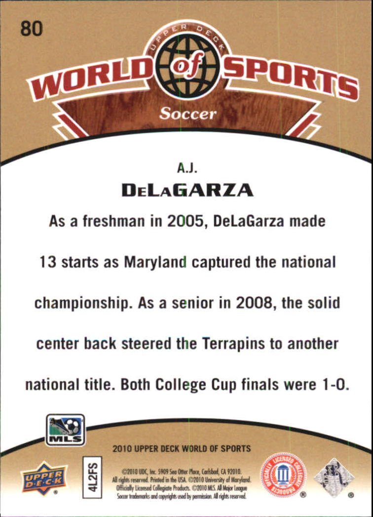2010 Upper Deck World of Sports #80 A.J. DeLaGarza
