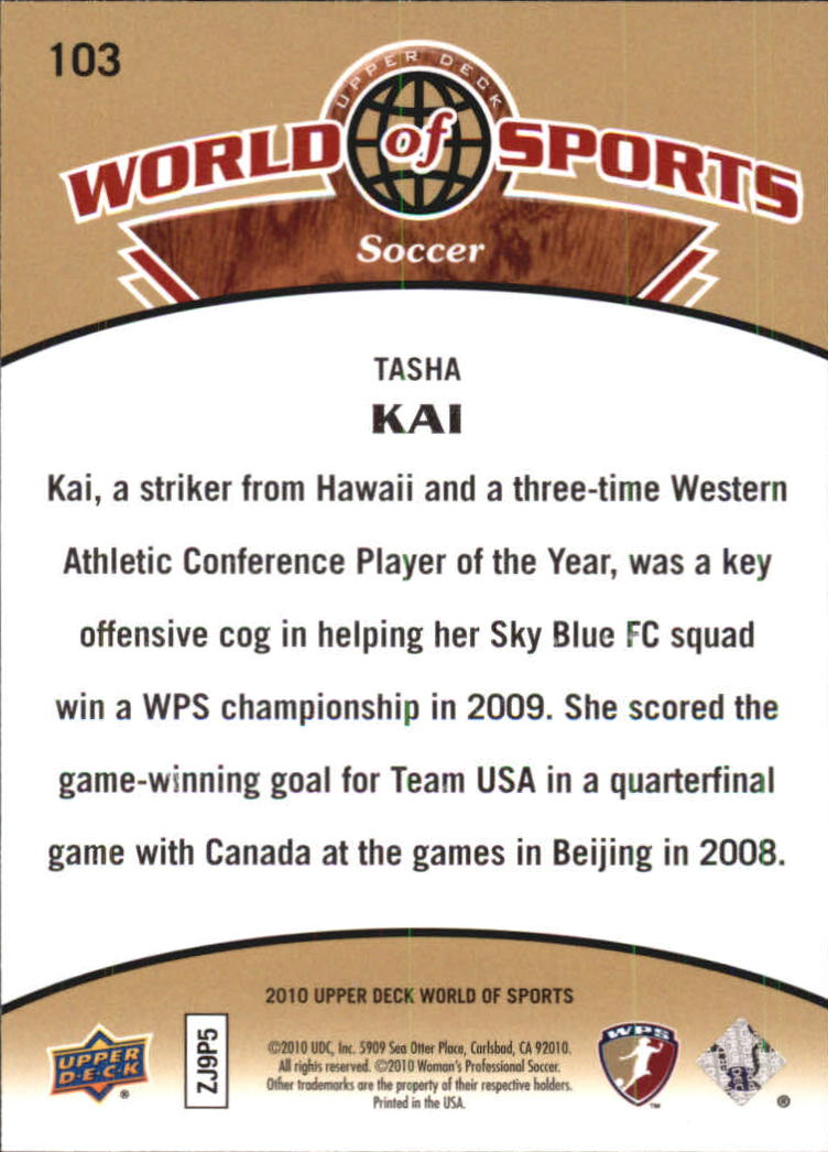 2010 Upper Deck World of Sports #103 Tasha Kai