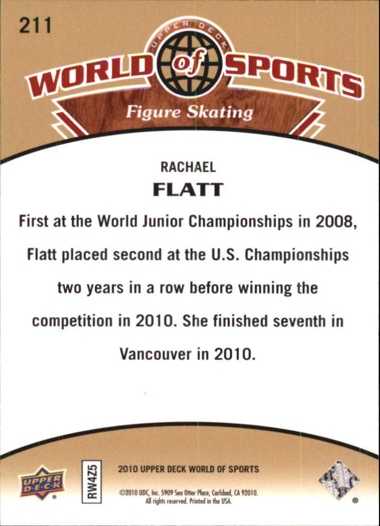2010 Upper Deck World of Sports #211 Rachael Flatt back image