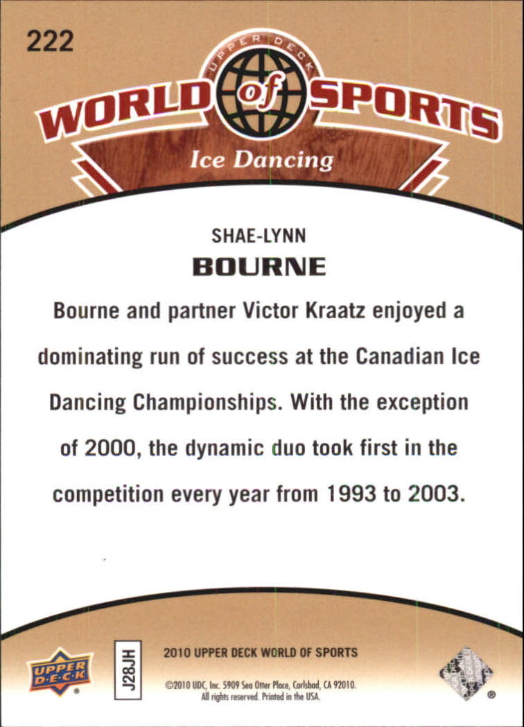 2010 Upper Deck World of Sports #222 Shae-Lynn Bourne back image