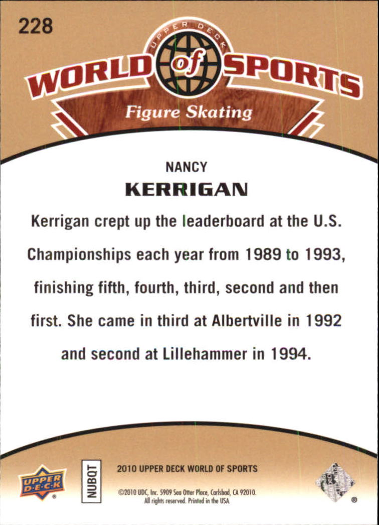 2010 Upper Deck World of Sports #228 Nancy Kerrigan back image