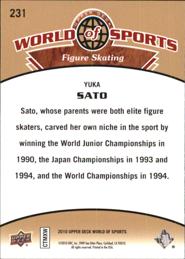2010 Upper Deck World of Sports #231 Yuka Sato back image