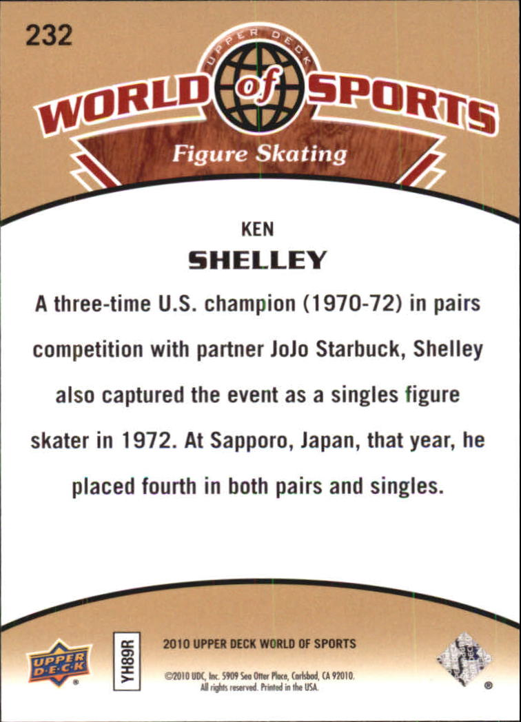 2010 Upper Deck World of Sports #232 Ken Shelley back image