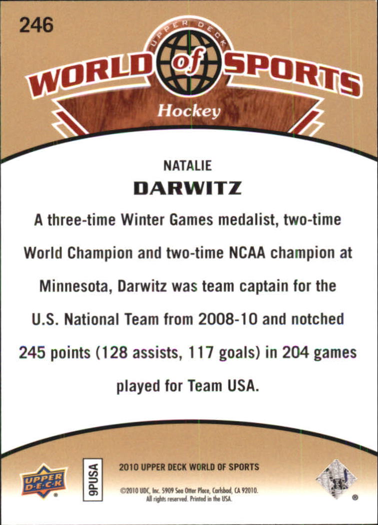 2010 Upper Deck World of Sports #246 Natalie Darwitz