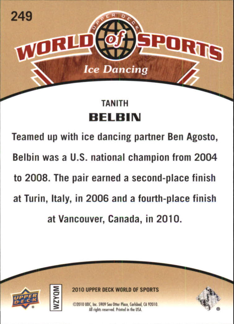 2010 Upper Deck World of Sports #249 Tanith Belbin