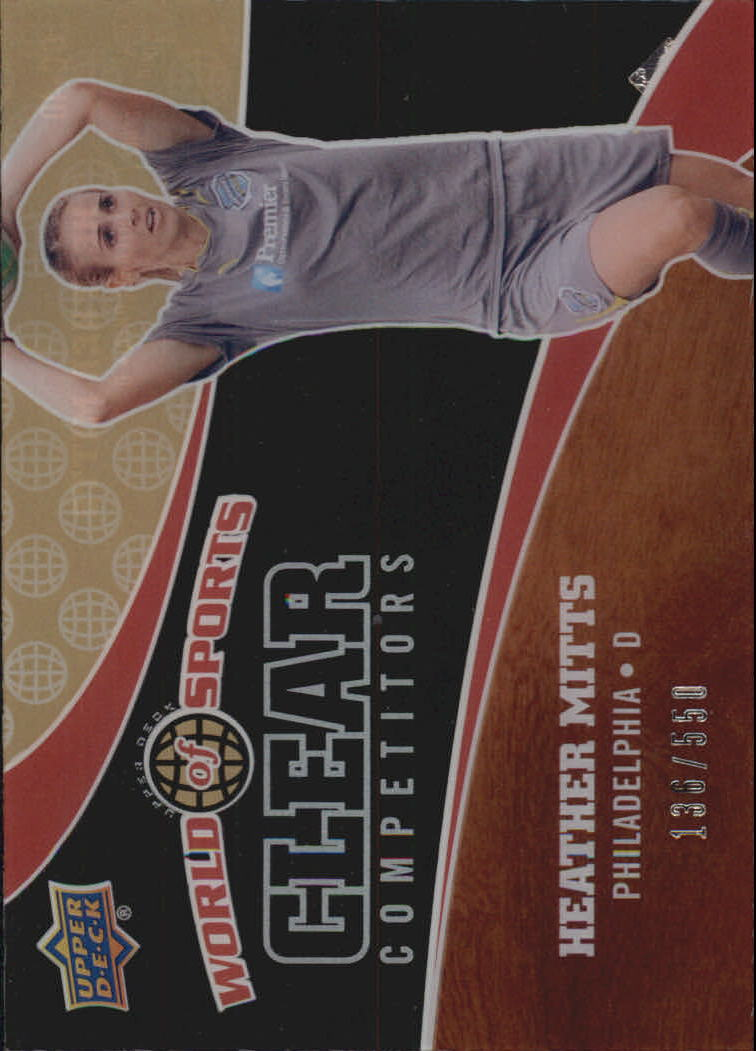 2010 Upper Deck World of Sports Clear Competitors #CC40 Heather Mitts