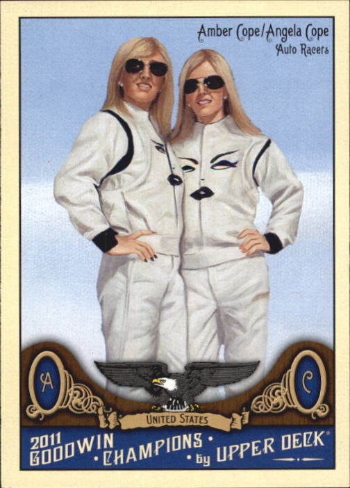 2011 Upper Deck Goodwin Champions #186 Amber Cope/Angela Cope SP
