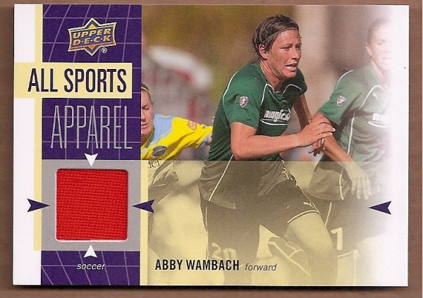 2011 Upper Deck World of Sports All-Sport Apparel Memorabilia #ASAW Abby Wambach