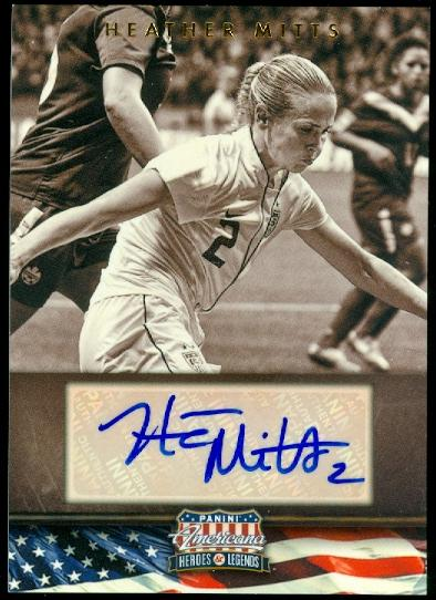 2012 Americana Heroes and Legends Autographs #95 Heather Mitts/179