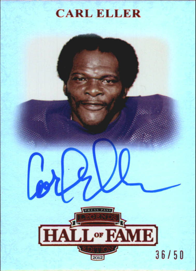 2012 Press Pass Legends Hall of Fame Red #LGCE Carl Eller/50