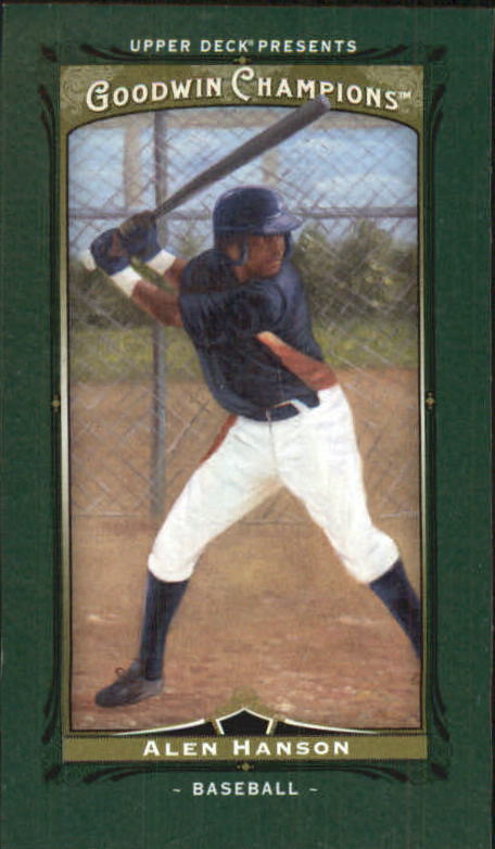 2013 Upper Deck Goodwin Champions Mini Green #225 Alen Hanson SP