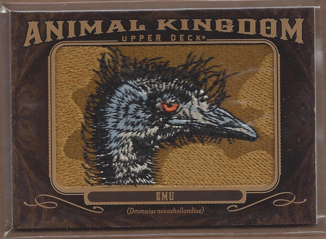 2013 Upper Deck Goodwin Champions Animal Kingdom Patches #AK221 Emu LC