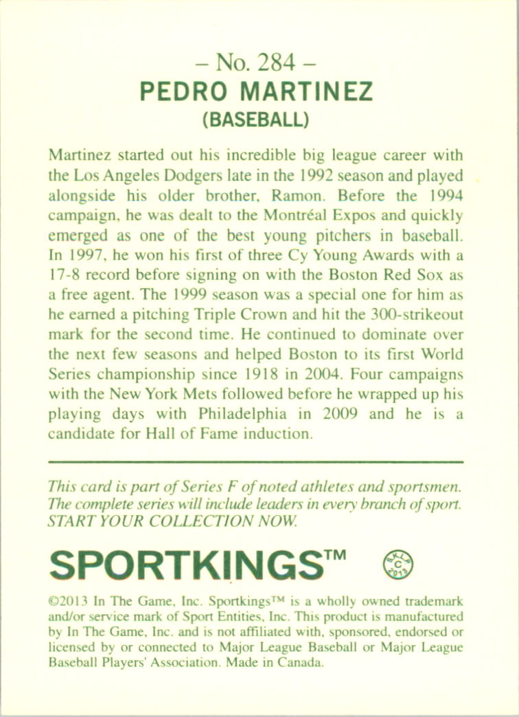 2013 Sportkings #284 Pedro Martinez