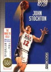 1992-93 SkyBox Olympic Team #USA3 John Stockton
