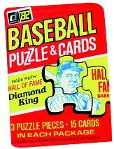 1982 Donruss Baseball Wax Pack