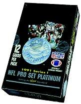 1991 Pro Set Platinum Football Hobby Box Series 1