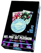 1991 Pro Set Platinum Football Hobby Box Series 2