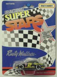 1990-92 Matchbox White Rose Super Stars 1:64 #2 R.Wallace/Pontiac Excite.BL 92